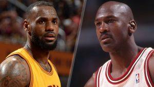 Lebron James y Michael Jordan, dos referentes  indiscutibles del baloncesto.
